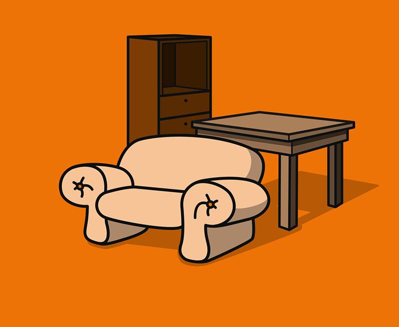 Ikea Schreibtisch mit 2 Holzböcken